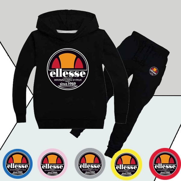 Ellesse Kids Clothes Sets Hoodies and Pants Casual Kid Suits Pullover Suit for Boys and Girls