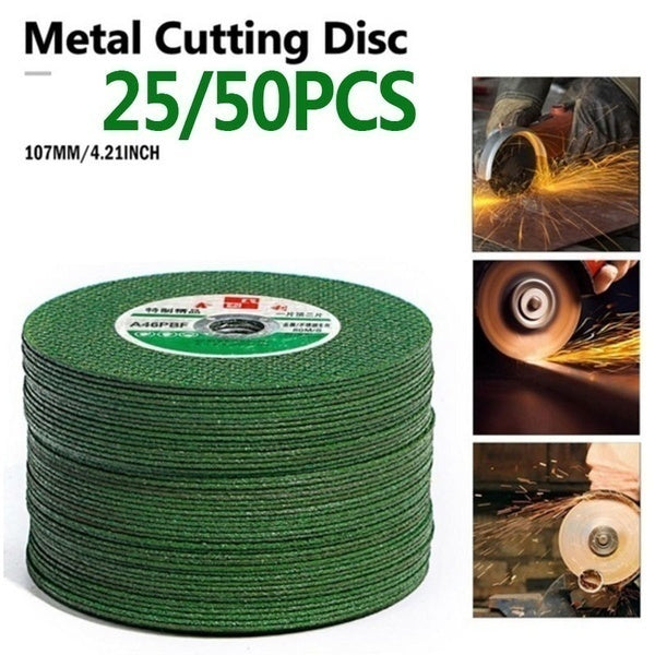 25/50Pcs 100 Angle Grinder Grinding Wheel Metal Cutting Disc Blade Wheel Cutting Disc Tools Accessories