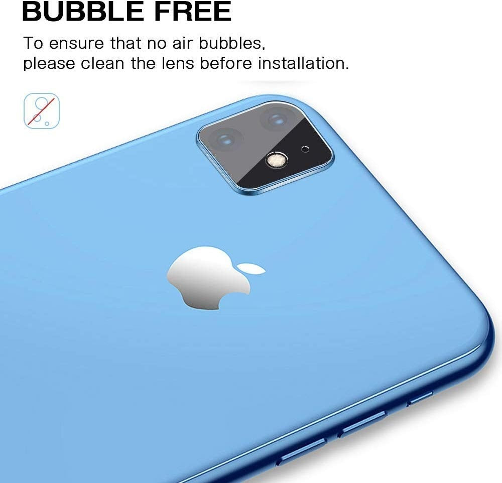 4 Pack Camera Lens Protector, Upgraded HD Anti-Scratch Bubble-Free Easy to Install Back Camera Lens Screen Tempered Glass Cover Apple IPhone 11 Pro Max Xs XsMax Xr X IPhone 8 8 Plus 7 7 Plus