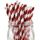 Christmas 25 PCS Foil Striped Straws Decorative Drinking Straws for Wedding Baby Shower Birthday