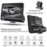 2019 NEW 4'' HD 1080P 3 Lens Car DVR Dash Cam Vehicle Video Recorder Rearview Camera Camera Night Vision Car Camera