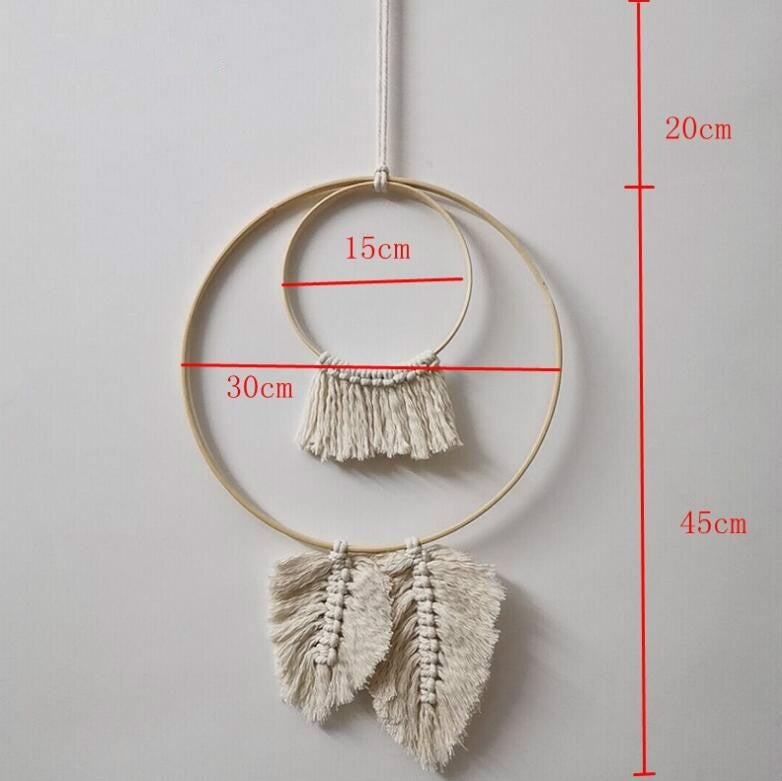 Dream Catcher Hanging Ornaments Hand-woven Macrame Tapestry Wall Hanging Simple Wall Boho Decor