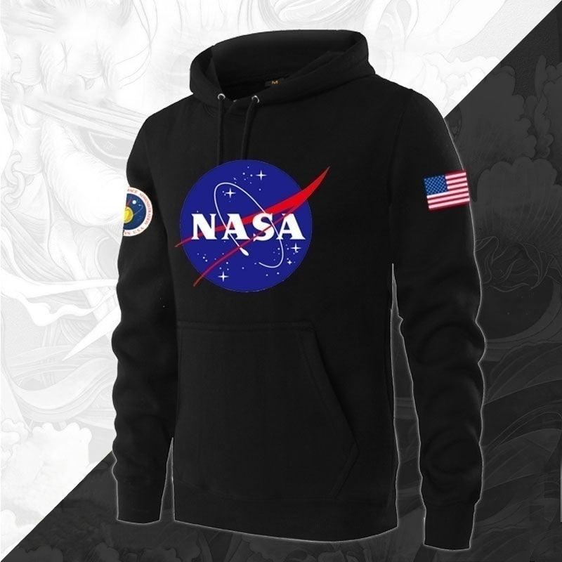 NASA Mars Rescue Matt Damon NASA Logo Astronaut Spaceman Coat Long Sleeve Hoodies Men Sweatshirt Hoodies
