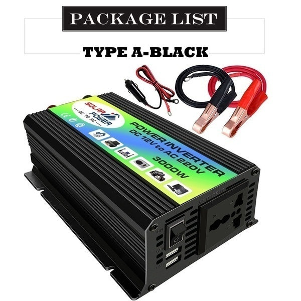 3000W 12V TO 110/220V AC Solar Power Inverter Built-in Cooling Fan Car Converter Inverters for Solar Inverter Home Appliances