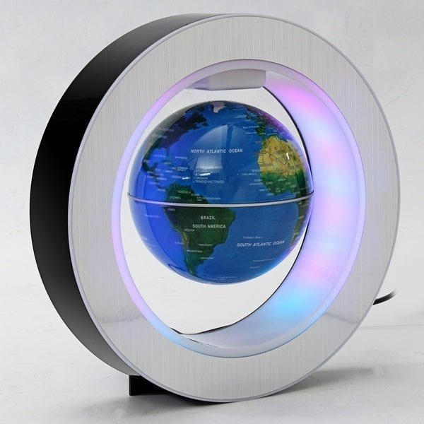 Black/Gold/Blue Three Colors O/C Shape LED Floating Globe LED Rotating World Globe for School and Office