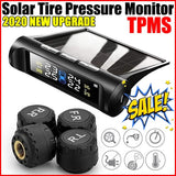 2020 New Upgrade Solar TPMS Tire Pressure Monitoring System Wireless TPMS with LCD Color Display/4 External Sensors