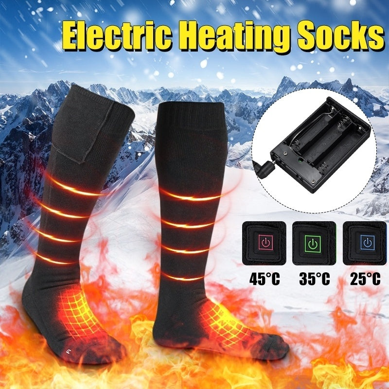3 Level Heating Electric Heated Socks For Winter Warming Cycling Hiking Snowboard Bouncy Socks