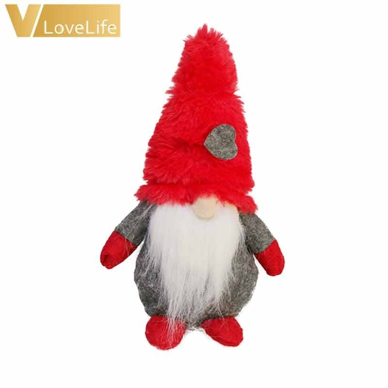 Christmas Stuffed Toys Forest Old Man Handmade Cloth Doll Faceless Doll Pendant Children Gift Window Decor Home Decoration
