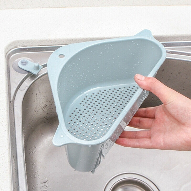 1Pcs Corner Sink Strainer Storage Hanging Rack Support Corner Hanging Shelf Soap Boxs
