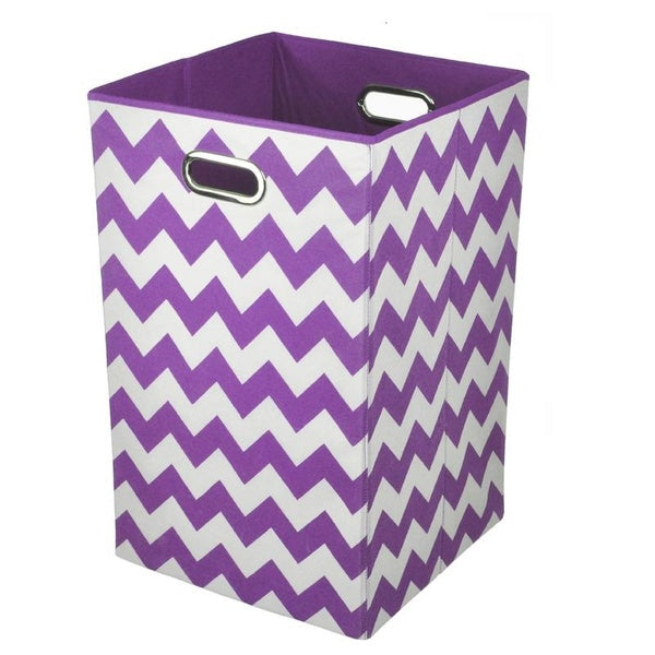 Chevron Collapsible Laundry Basket/Storage Bin