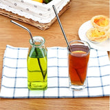 Reusable Stainless Steel Straws Straight bending Drinking Straws Metal Straw Bar Party Accessory