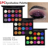 1Pcs 15 Colors Eyeshadow Pallete Diamond Sequins Eye Shadow Disc Shiny Golden Onion Powder High Light Eye Shadow