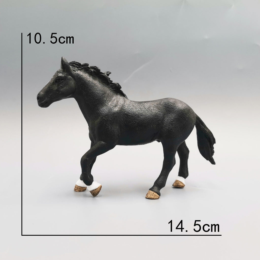 Original Genuine Horse Fjord Arabian Icelandic Tennessee Hanoverian Figure Animal Model Kids Toy Collectible Figurines
