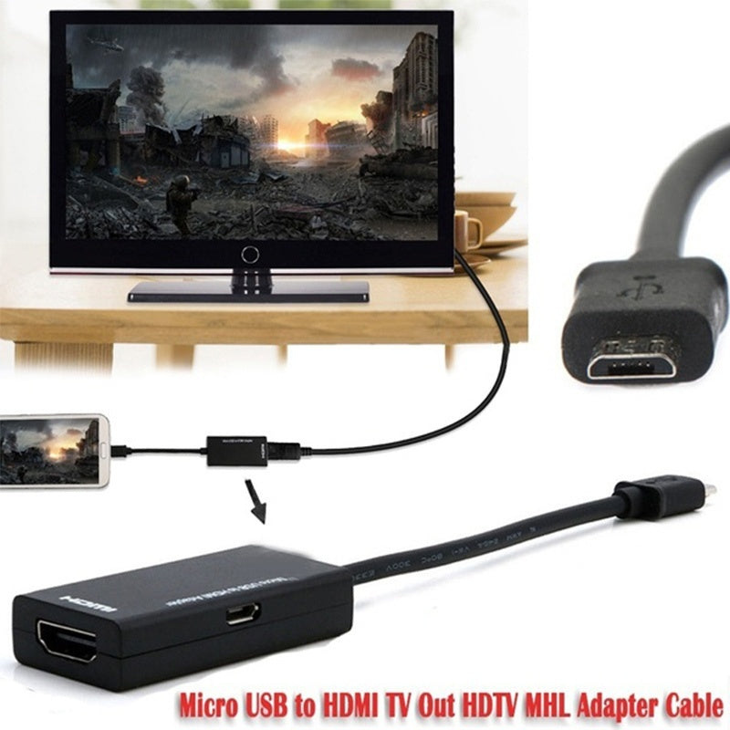 Micro USB to HDMI TV MHL Adapter Cable for Android Mobile Phone MAX Full HD