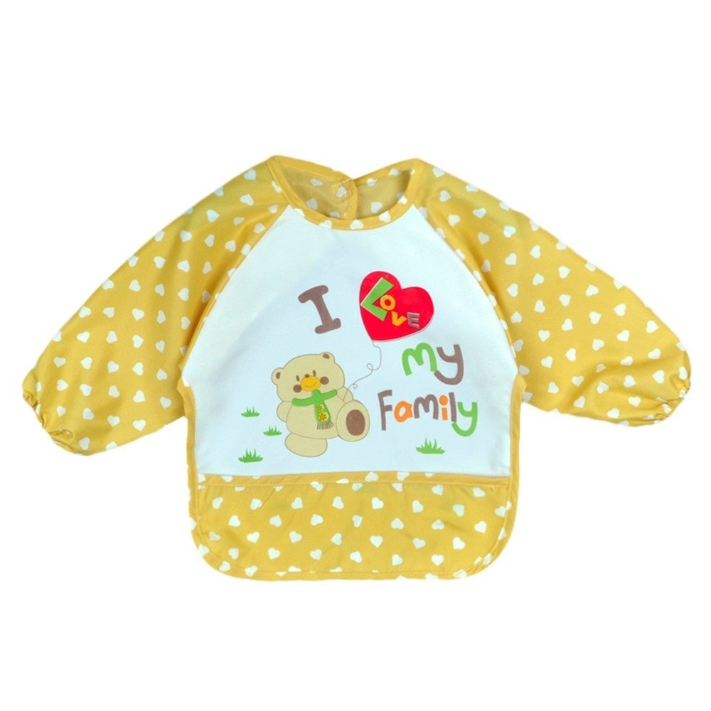 B¡§|b¡§| bambin gar?on fille ¡§¡è manches longues lettre imperm¡§|able alimentation tablier bavoir Children bib