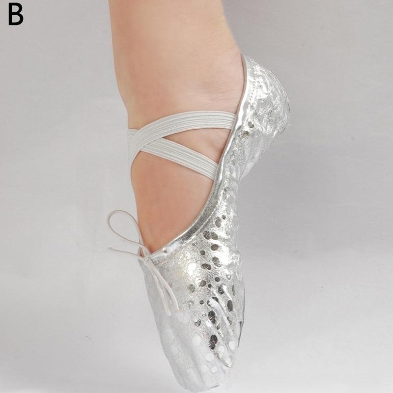 1Pair Soft Sequin Cloth Dancing Shoes Flats Shoes Ballet Shoes Shoes High Quality Non Slip Elegant Big Size
