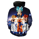 2019 Fashion New Autumn and Winter 3D Digital Printing Hoodie Dragon Ball Youth Anime Casual Jacket Cool Sweater