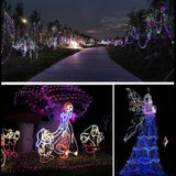 50/100/200 LED Solar Power Fairy Garden Lights String Outdoor Party Wedding Xmas