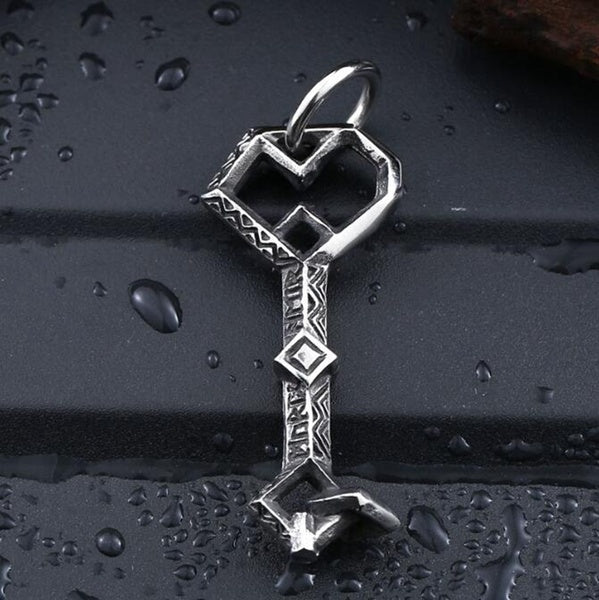 Stainless Steel pendant necklace The Hobbit Thorin Erebor Key fashion chain men jewelry