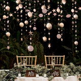 4m Circle Party Decoration Paper Garlands Wedding Screen Decor Birthday Party Supplies Girls Bedroom Decor
