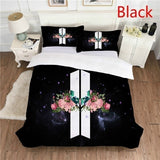 2019 New KPOP BTS Bangtan Boys LOVE YOURSELF WINGS Album Cover for Comforter/Duvet/Quilt with Pillow Cover Bedding Set