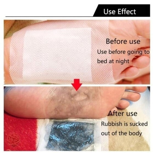 Detox Foot Pads Organic Herbal Cleansing Foot Patches Improve Sleep Slimming Foot Care Feet Stickers Weight Loss Products Effective Anti Cellulite Fat Burning 20/40/60PCS( Patches+ Adhersives)
