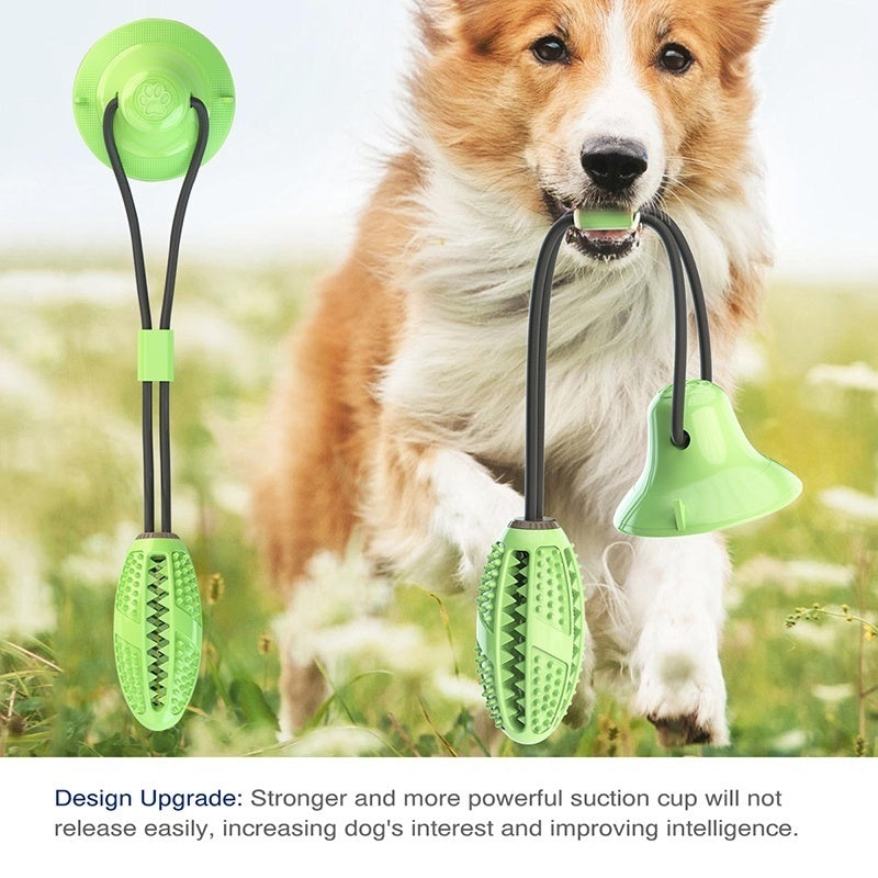 2020 New Multifunction Pet Molar Bite Toy Interactive Fun Pet Leakage Food Toys with Suction Cup Pets