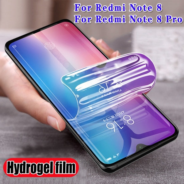 2pcs Hydrogel Film for Xiaomi Redmi Note 8 Pro Full Cover Screen Protector Film Not Glass Screen Film Protector Tpu Film