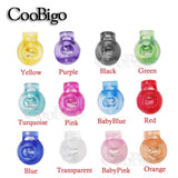 25pcs Colorful Cord Lock Ball Stopper Ends Toggle Clip Transparent Clear Frost Sportswear Shoe Lace Outdoor Backpacks Bag Parts