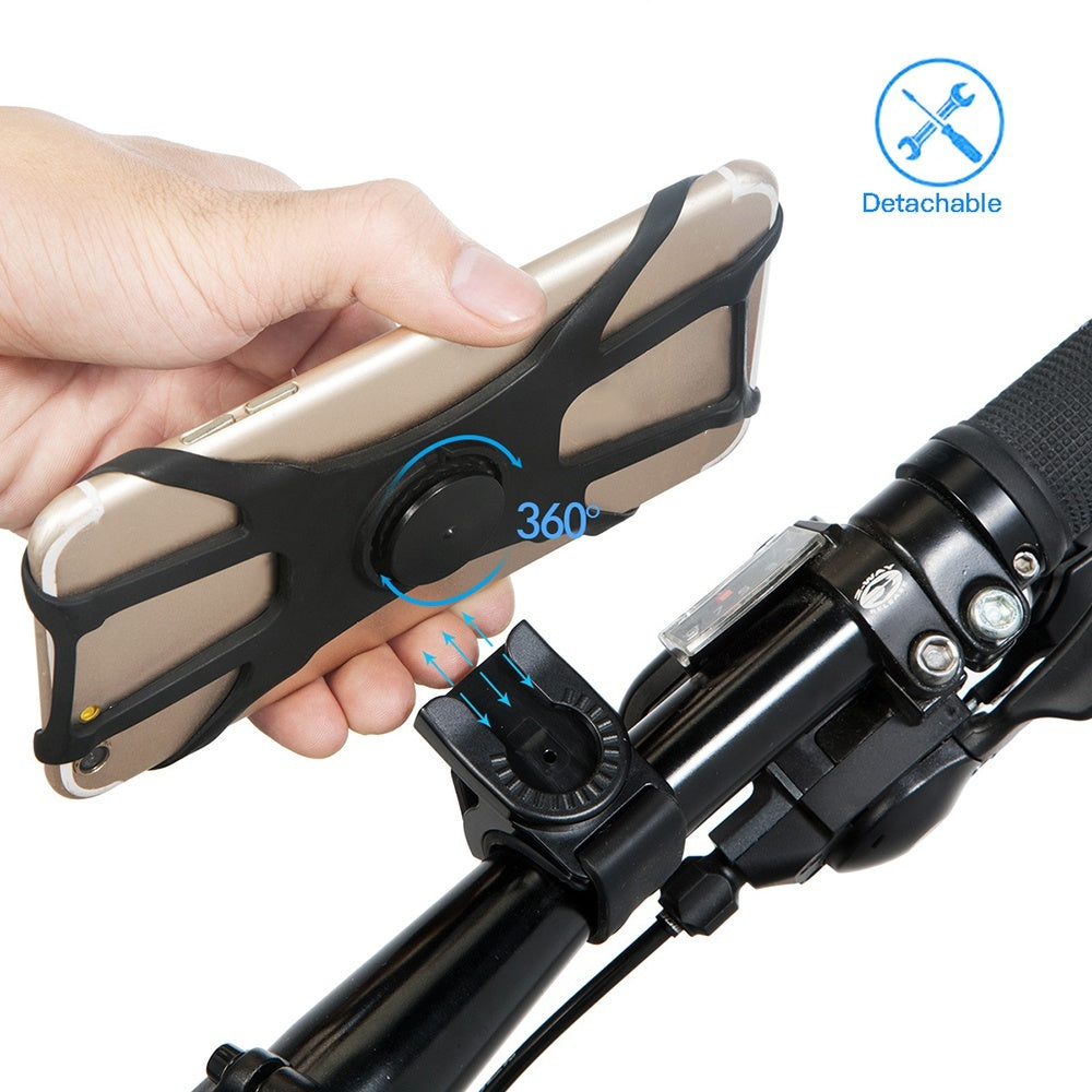 Silicone Stands 360 Degree Rotating Mobile Phone Holders Bike Phone Holder
