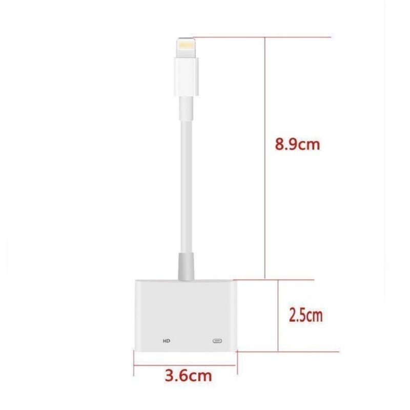 Newest Lightning To HDMI Digital AV TV Cable Adapter Sync Data Cable For iPad iPhoneX iPhoneXR iPhoneXS iPhoneXSMax 1080p