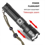 Newest Powerful XHP90.2/XHP70.2 LED Flashlight 18650 USB Torch Lantern Hunting Lamp Hand Light USB Rechargeable