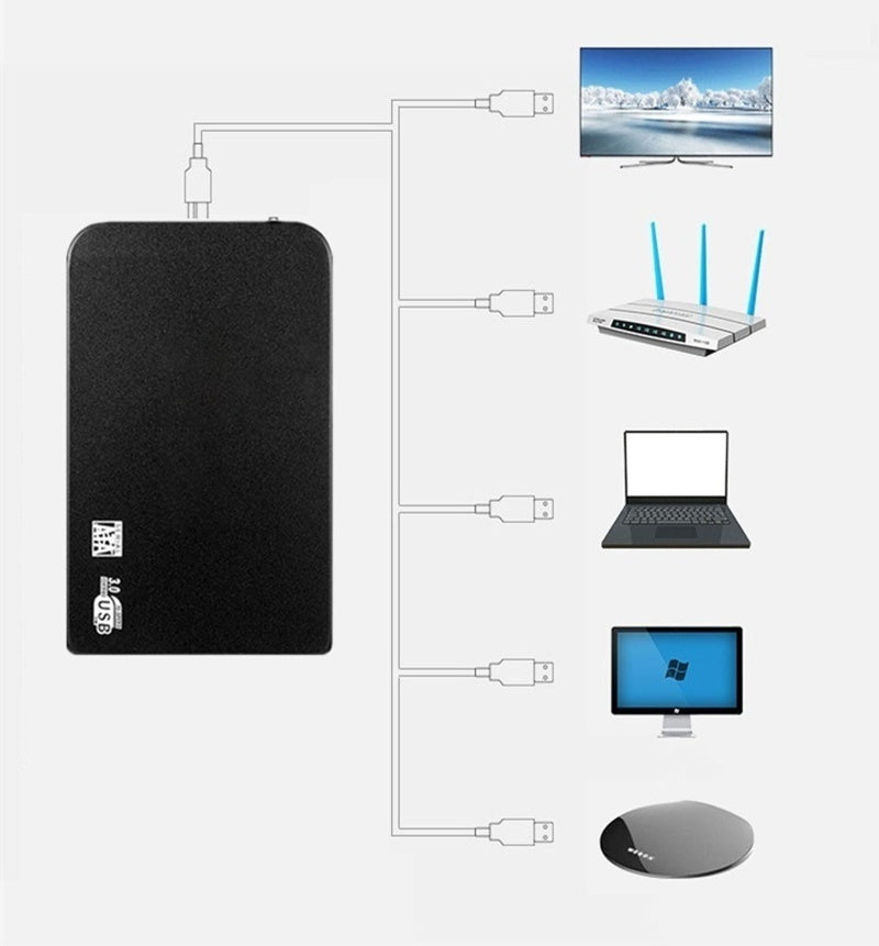 2TB High-speed USB3.0 High-capacity SATA3 Interface Portable Hard Disk Metal Matte Surface Material External Hard Disk