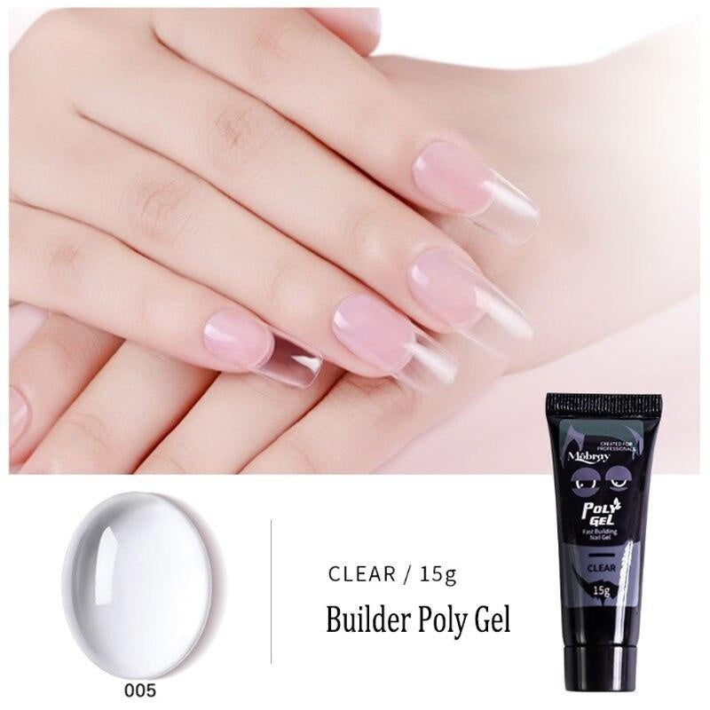 Kit Nail Pusher Quick Builder UV LED Nail Gel Set Nails Extension Poly Gel Double End Nail Pusher Nails Extension Gel Kit