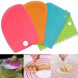 3PCS/Lot Cream Scraper Irregular Teeth Edge DIY Scraper Cake Decorating Fondant Pastry Cutters Baking Spatulas Tools Molds