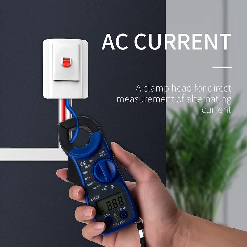 Portable LCD Digital Amper Clamp Meters Multimeter With Measurement AC/DC Current Voltage Transitor Voltage Tester Resistance Multi Test