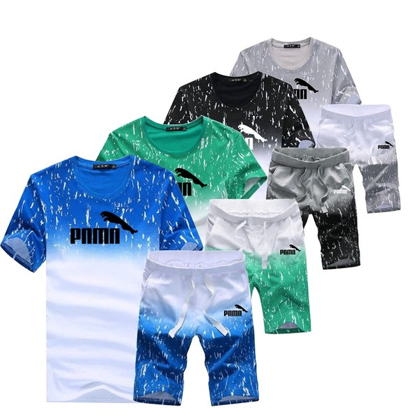 Summer Men's Short-sleeved Casual Sports Suit