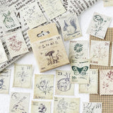 46 Pieces/Box Forest Post Stamp Decorative Stickers Adhesive Stickers DIY Decoration Diary Stationery Journal Stickers Planner 2019