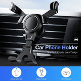 Brand-new Universal Car Phone Holder For Samsung iPhone Huawei Xiaomi Oppo Vivo Car Gravity Air Vent Mount Stand  Air Outlet Phone Bracket Support