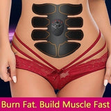 Weightloss Burn Fat, EMS Abdominal Muscle Trainer Keep Fitness, Weight Loss,Build Muscle Fast with Black / Pink