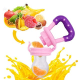 Portable Fresh Fruit Food Chew Tool Kids Silicone Nipple Feeding Safe Baby Pacifier