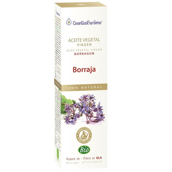 Aceite Vegetal Virgen. Borraja. Biologico - 100 ml. Esential'aroms.