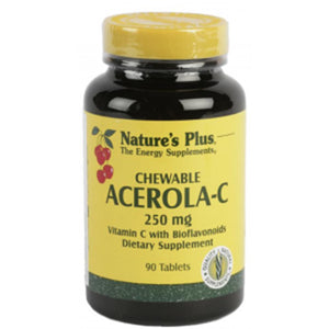 Acerola C 250 mg - 90 Comprimidos. Nature's Plus