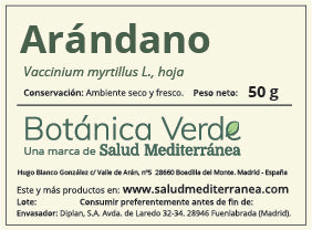 Extracto Natural. Arándano (Fórmula XXI) - 50 ml. Soria Natural