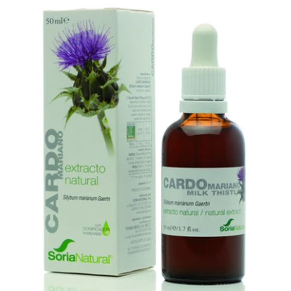 Extracto Natural. Cardo Mariano - 50 ml. Soria Natural