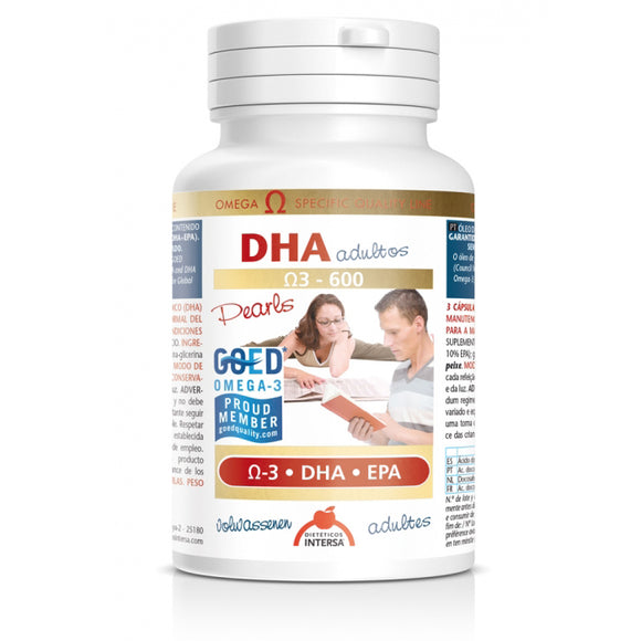DHA Adultos Ω-3 - 600 - 90 Perlas. Dietéticos Intersa