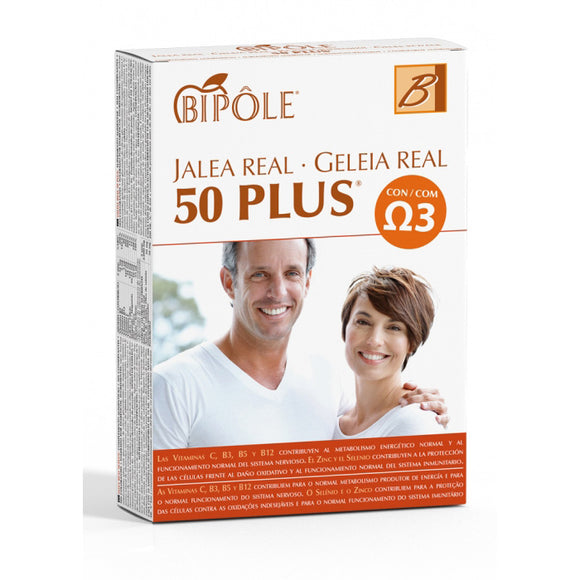 Bipole Jalea Real 50 Plus - 20 Ampollas. Dietéticos Intersa