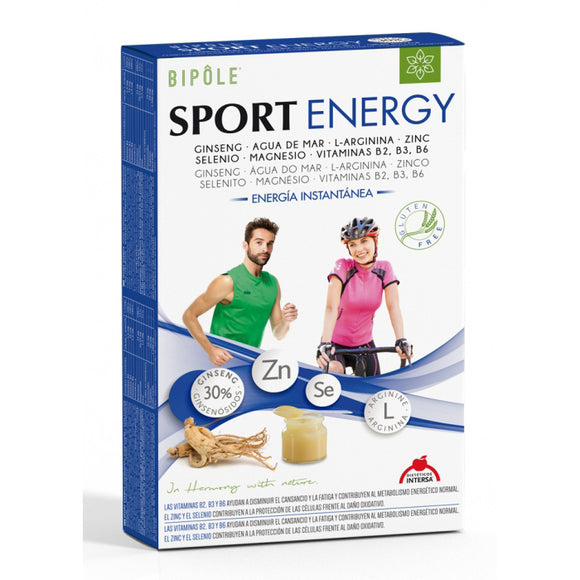 Bipole Jalea Real Sport Energy - 20 Ampollas, Dietéticos Intersa