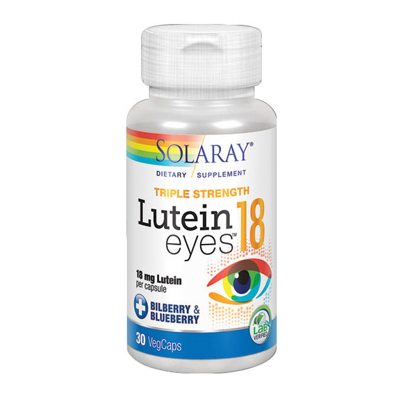 Lutein Eyes 18 mg - 30 Cápsulas. Solaray