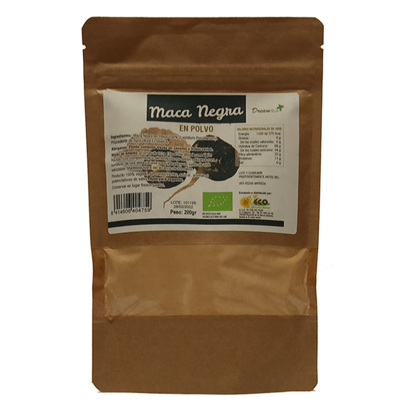 Maca Negra en Polvo - 200 g. Dream Foods